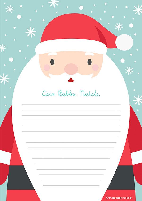 Modello di lettera a Babbo Natale n.16