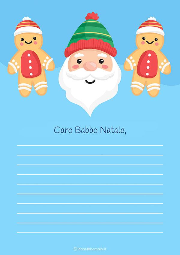 Modello di lettera a Babbo Natale n.18