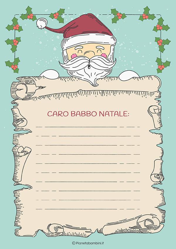 Modello di lettera a Babbo Natale n.19
