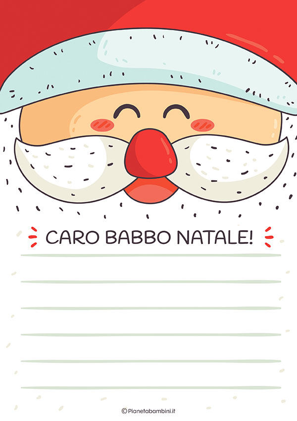 Modello di lettera a Babbo Natale n.20