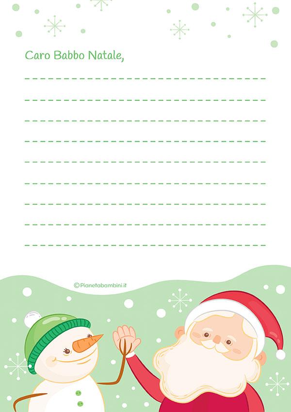 Modello di lettera a Babbo Natale n.22
