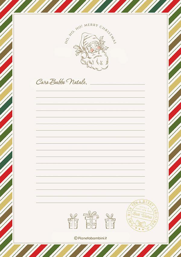 Modello di lettera a Babbo Natale n.23