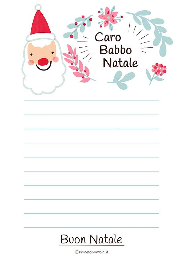 Modello di lettera a Babbo Natale n.25