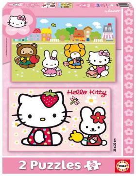 Immagine dei puzzle di Hello Kitty da 20 pezzi