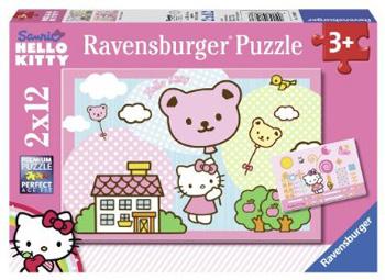 Immagine dei due puzzle di Hello Kitty da 12 pezzi
