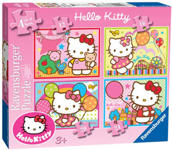 Immagine del Puzzle di Hello Kitty 4 in 1