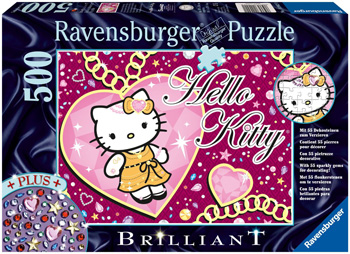 Immagine del puzzle Hello Kitty e le gemme