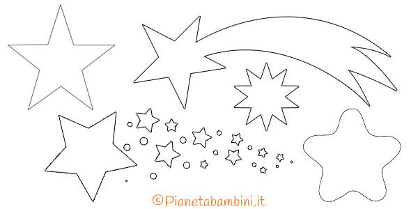 Sagome di stelle da stampare, colorare e ritagliare