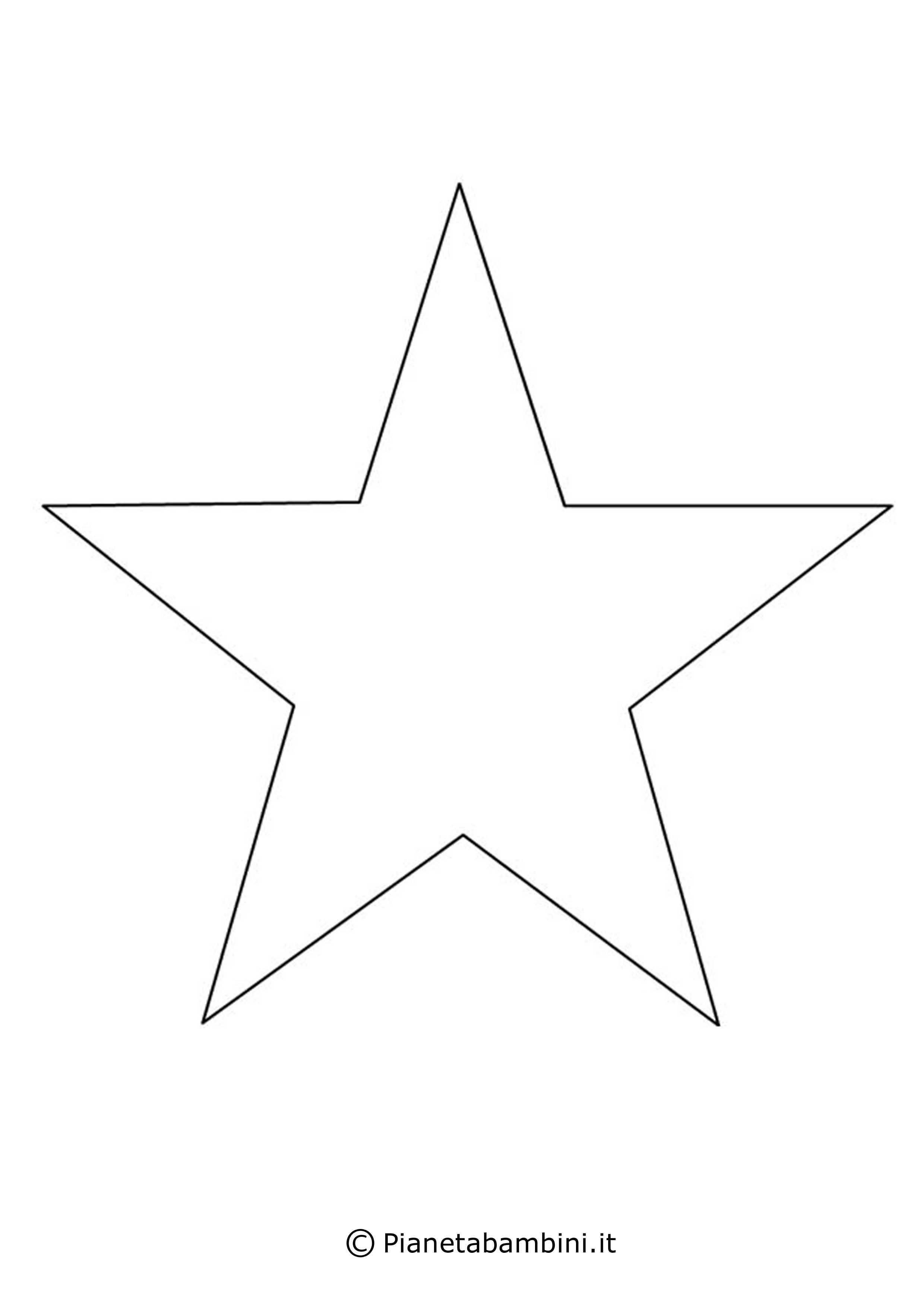 disegni di stelle da stampare, colorare e ritagliare ... - Disegno Stella Colorate