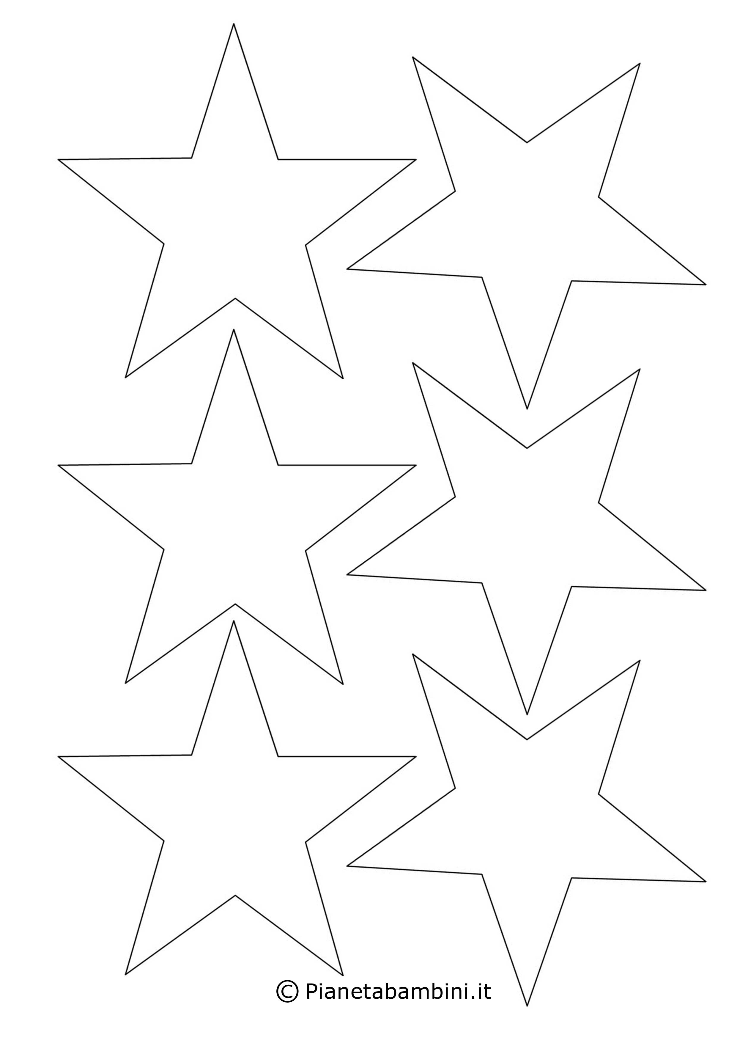 Stelle Di Natale Da Costruire disegni di stelle da stampare, colorare e ritagliare