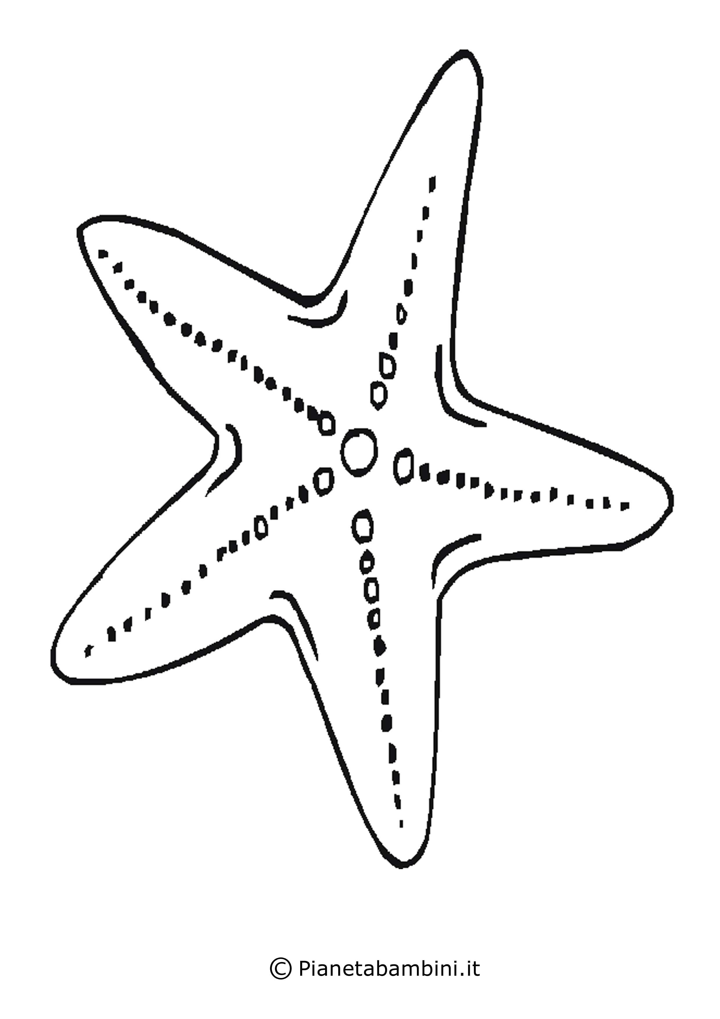 Disegni di stelle da stampare colorare e ritagliare for Immagini di animali marini da stampare