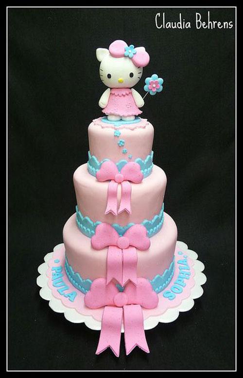 Foto della torta di Hello Kitty n.02