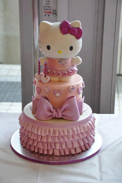 Foto della torta di Hello Kitty n.28