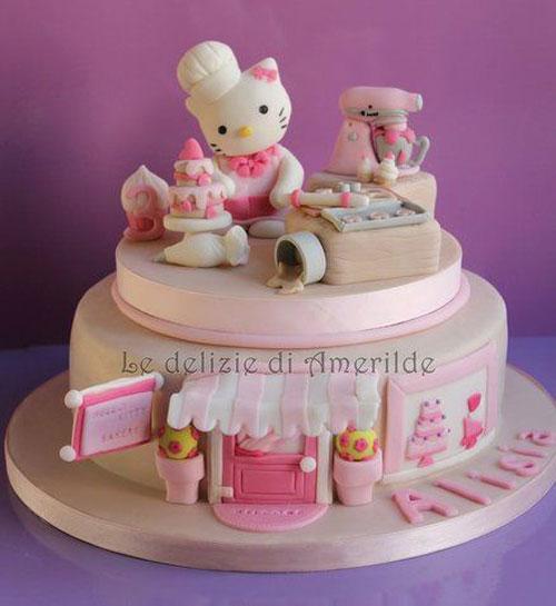 Foto della torta di Hello Kitty n.33