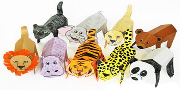 Sagome di animali da colorare ritagliare e costruire - Animali immagini da colorare pagine da colorare ...