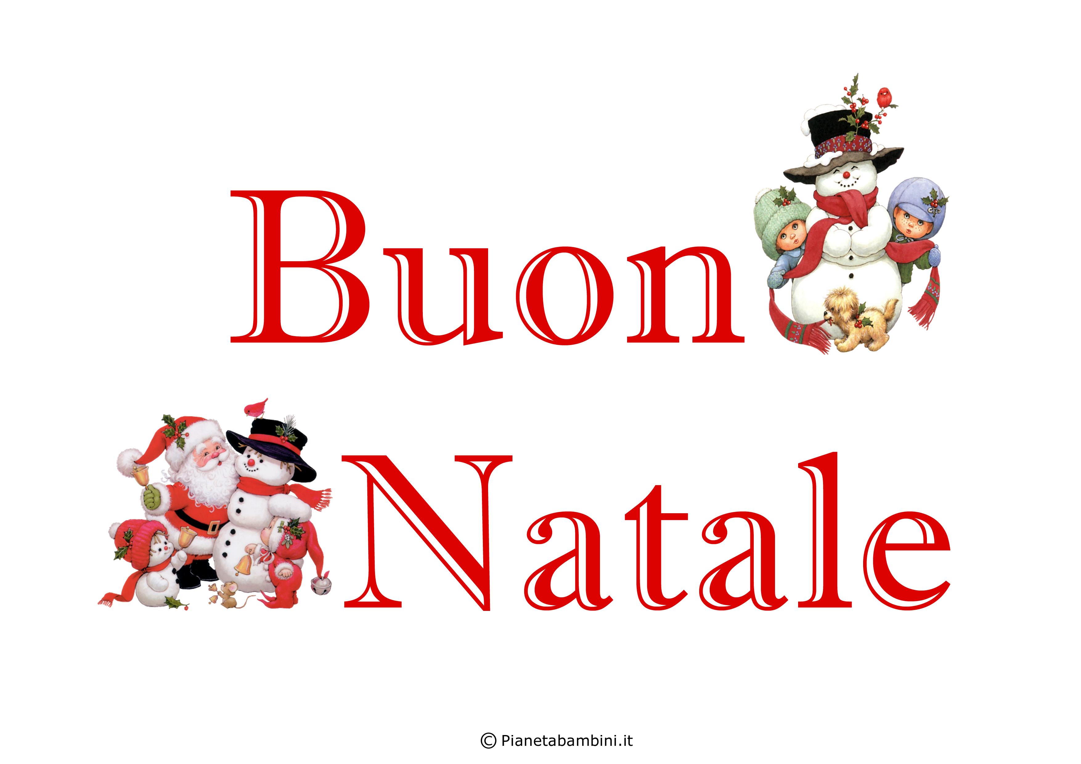 Scritta Buon Natale n 7