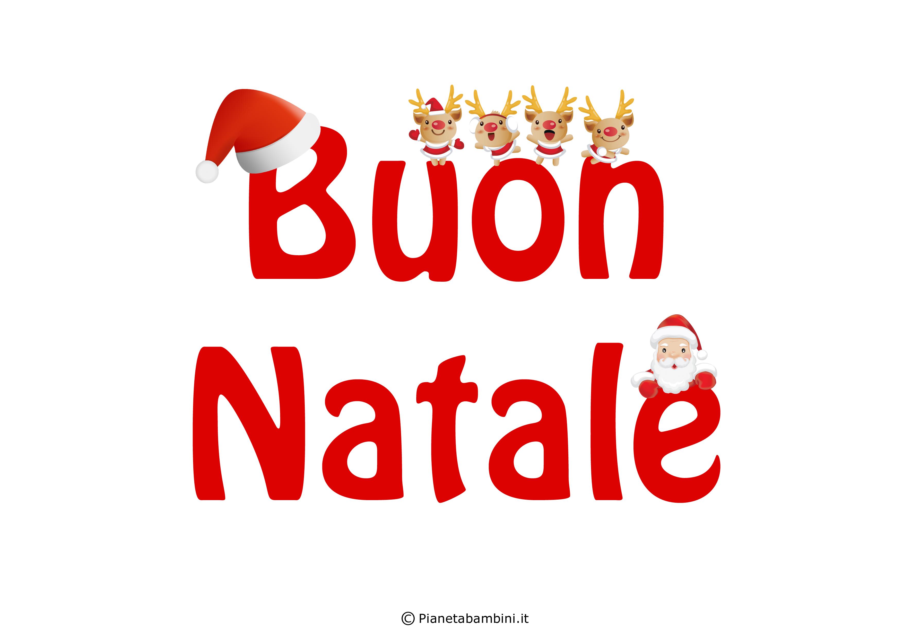 Scritta Buon Natale n 8