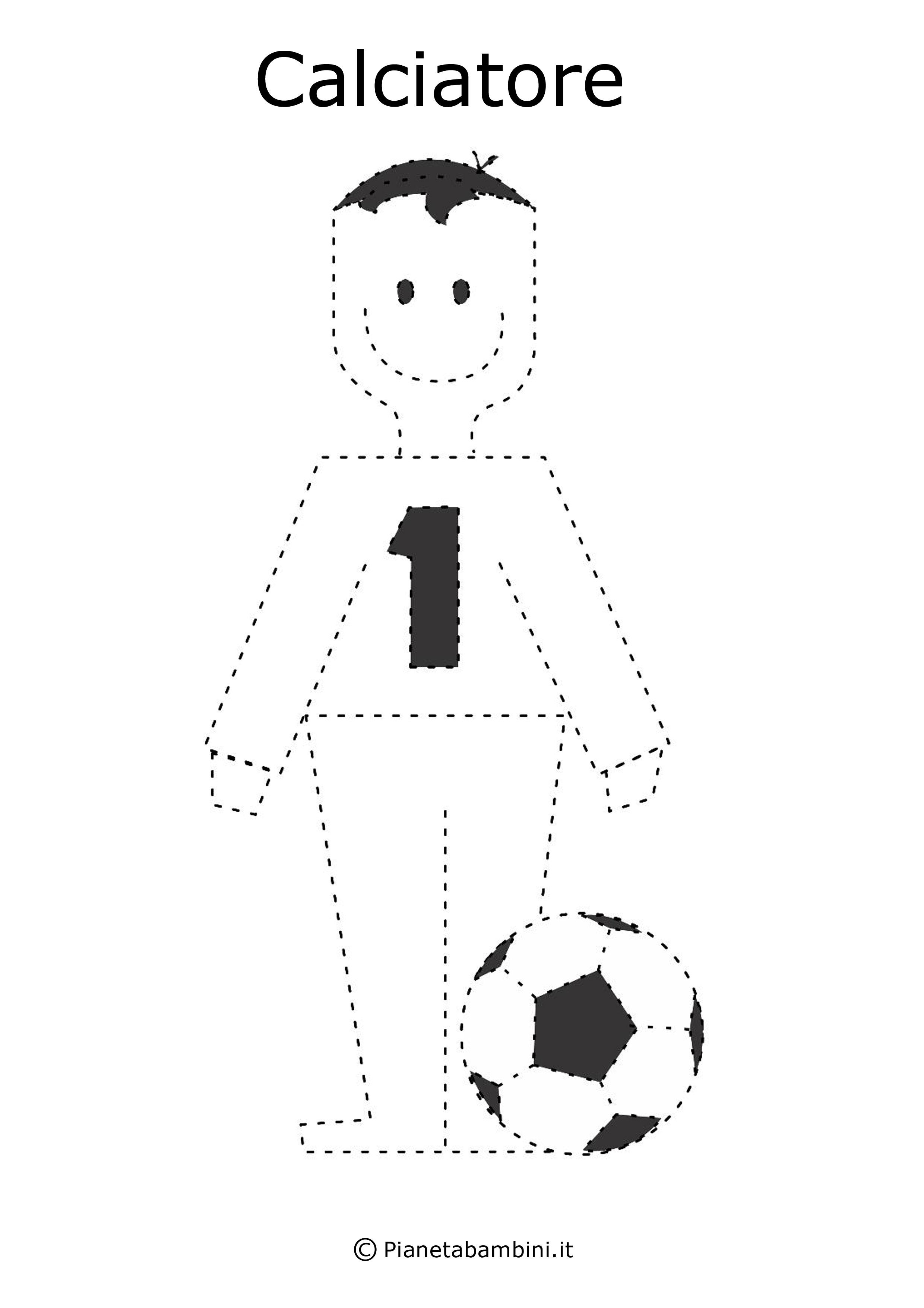 Scheda di pregrafismo calciatore