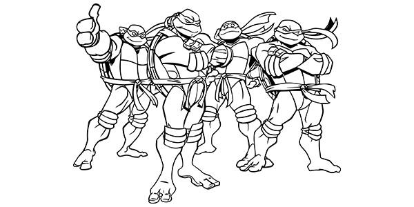 Immagini Delle Tartarughe Ninja Da Colorare.62 Disegni Delle Tartarughe Ninja Da Colorare Pianetabambini It