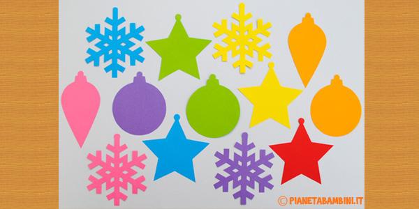 Addobbi di Natale da stampare e ritagliare