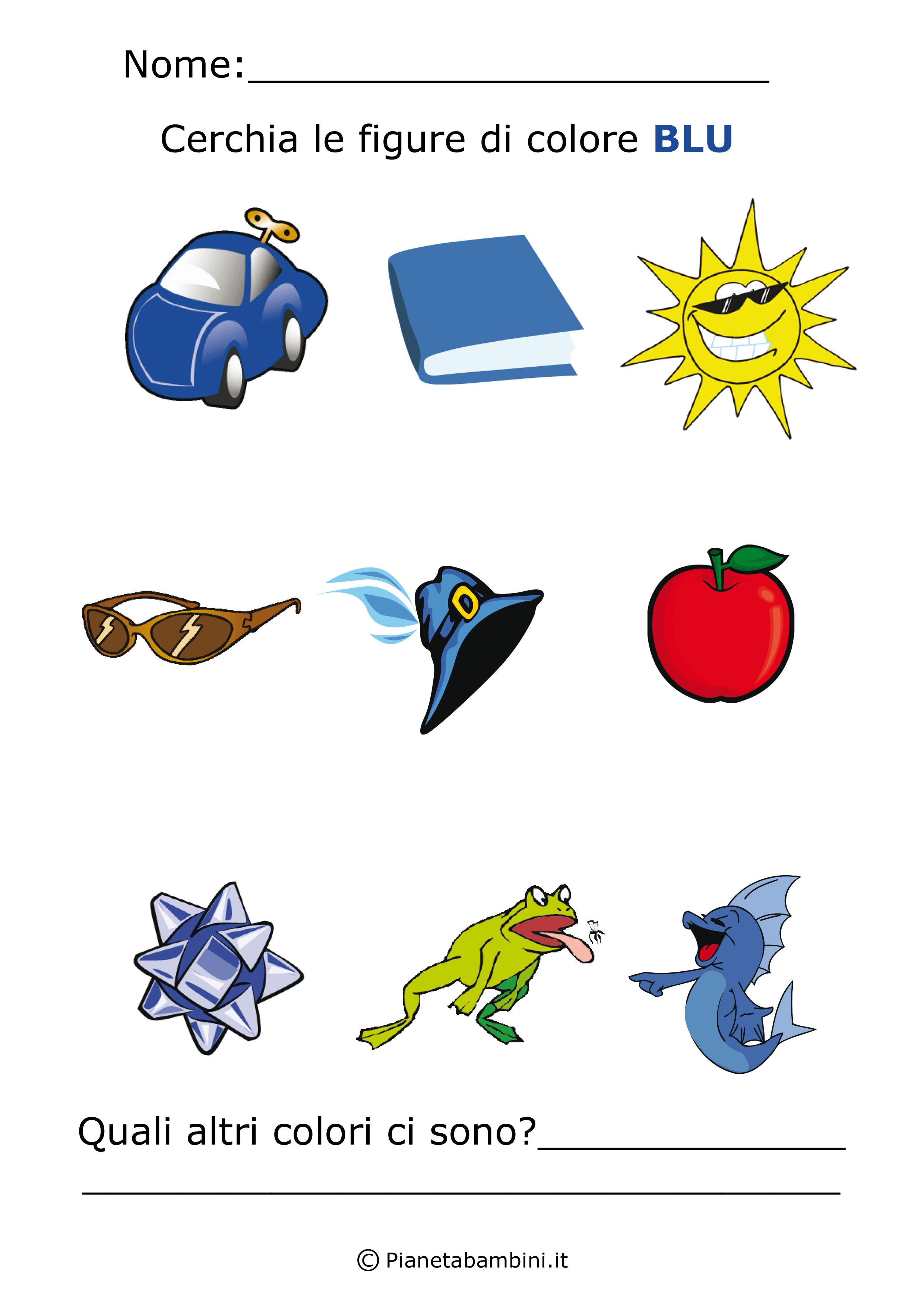 Imparare i colori con schede di giochi da stampare per - Giocare giochi da colorare gratis ...