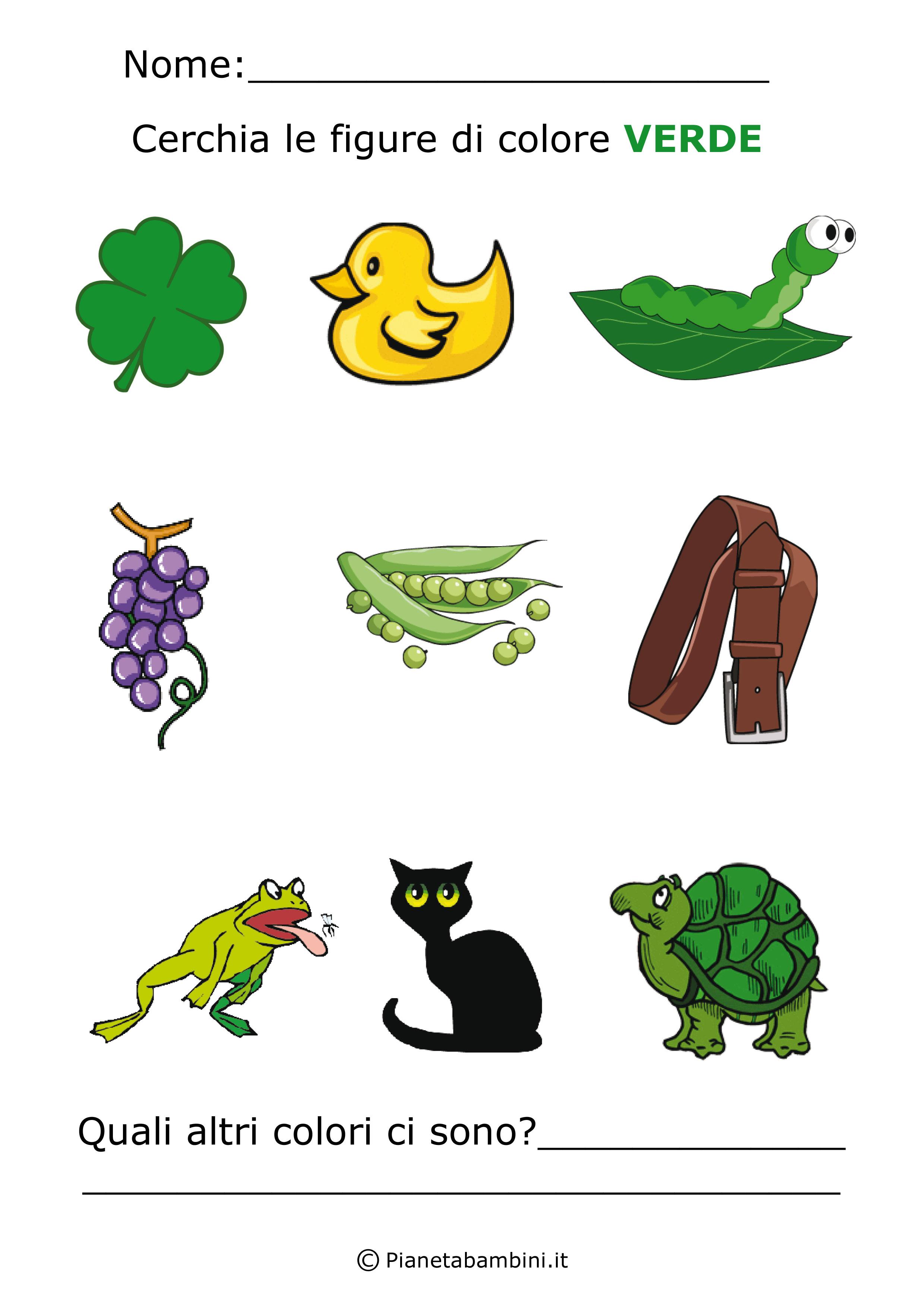 Favori Imparare i Colori con Schede di Giochi da Stampare per Bambini  PV35