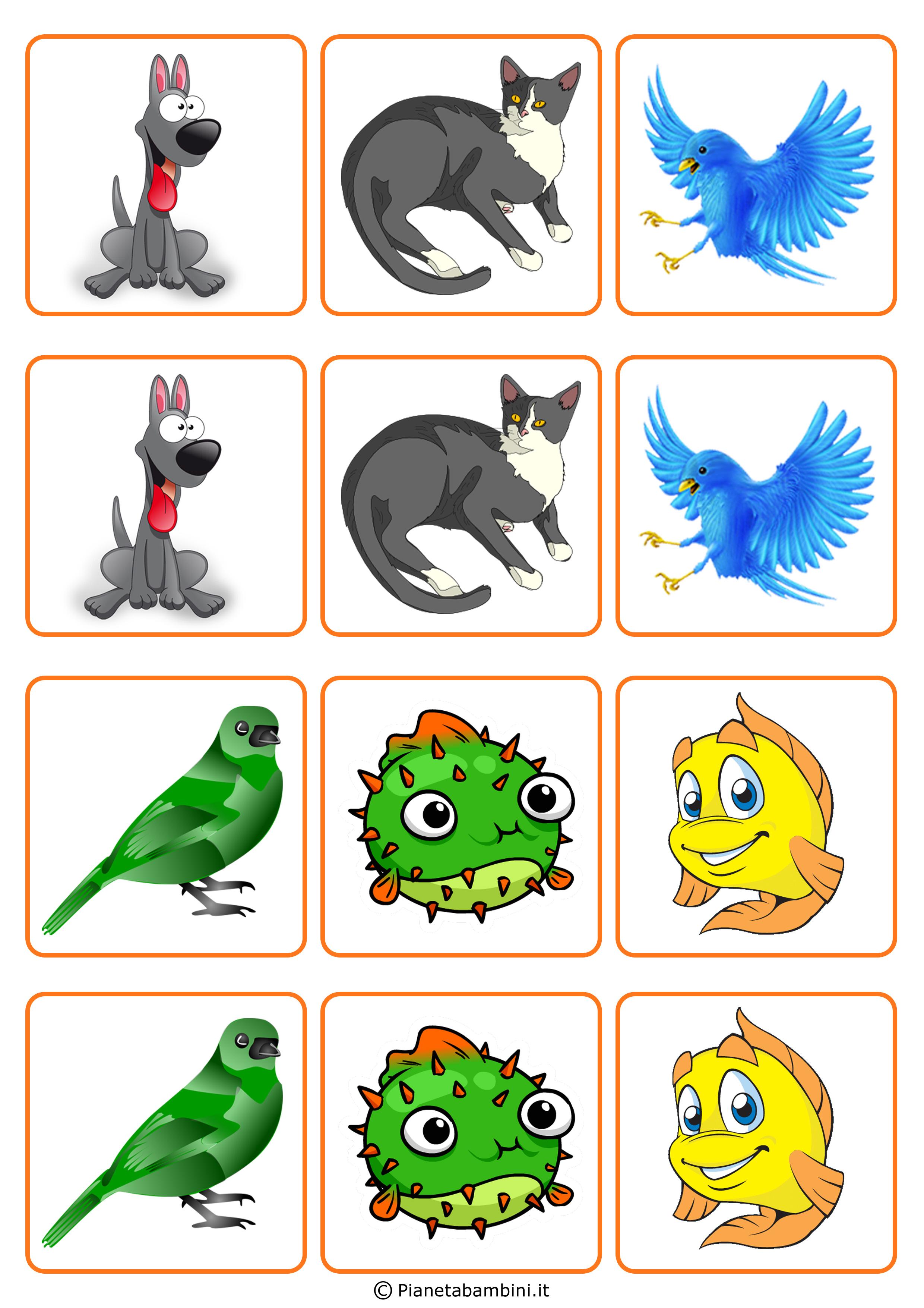 Favori Gioco Memory per Bambini da Stampare e Ritagliare Gratis  AS14