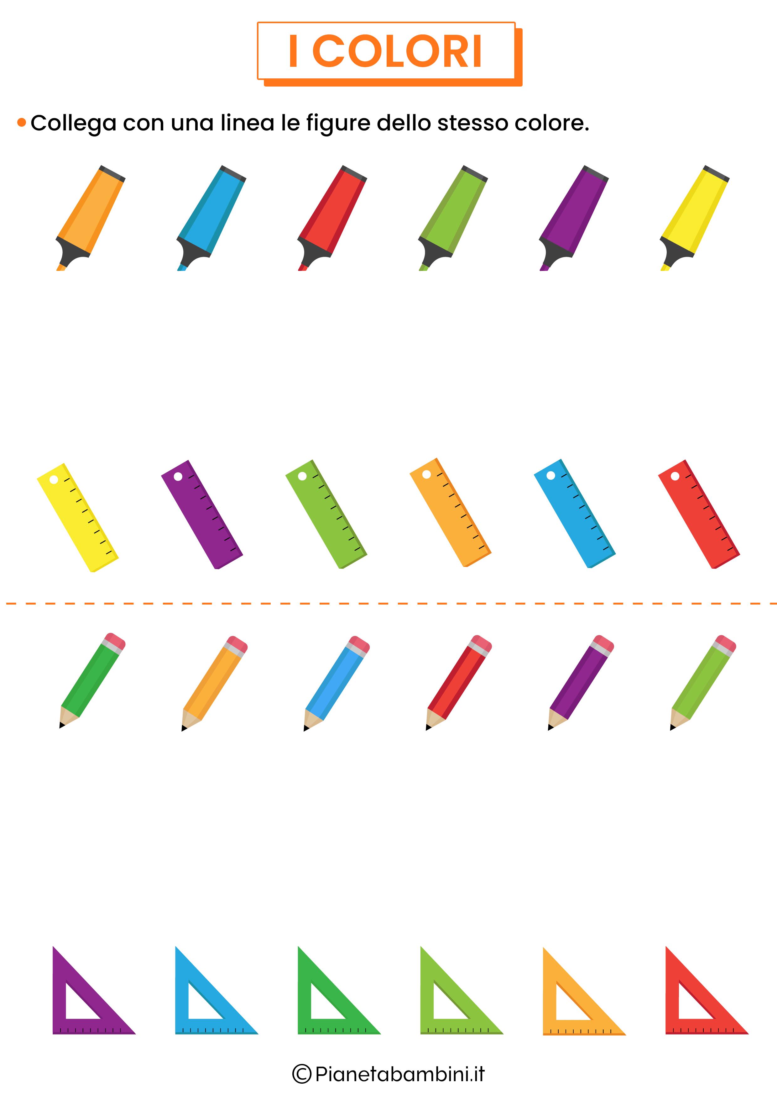 Unisci figure dello stesso colore 1