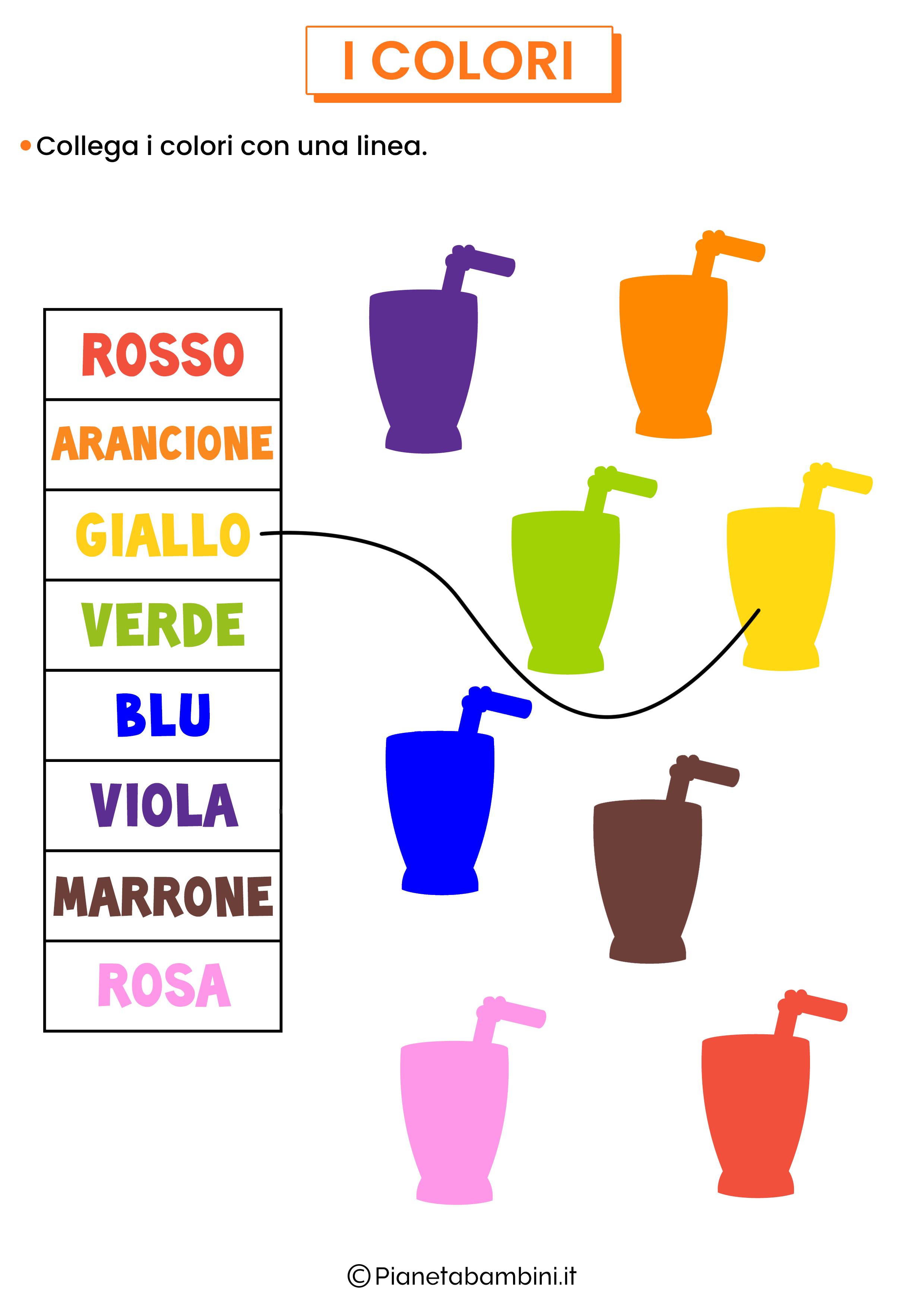 Unisci nome del colore e figura 2