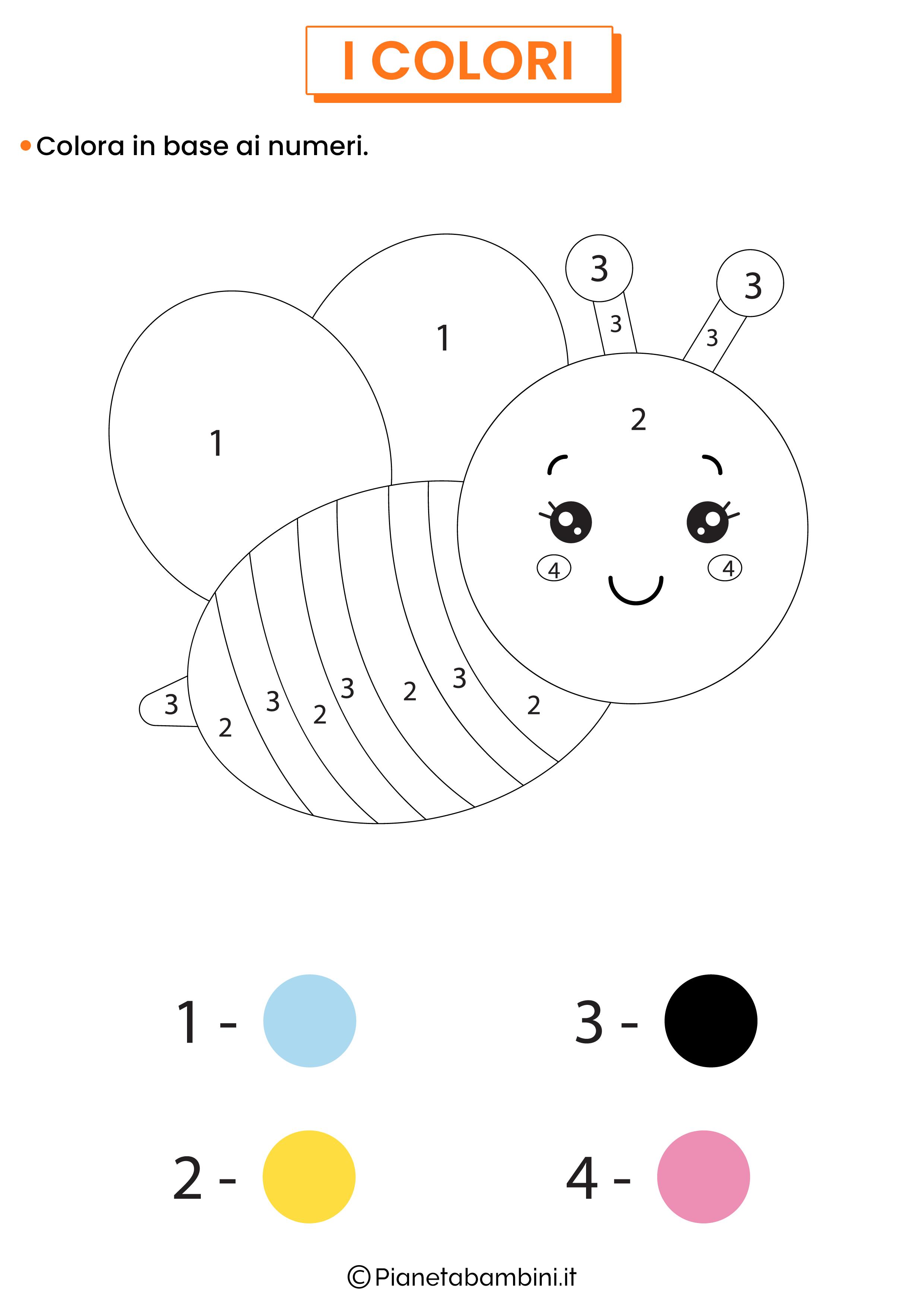 Colora in base ai numeri 2