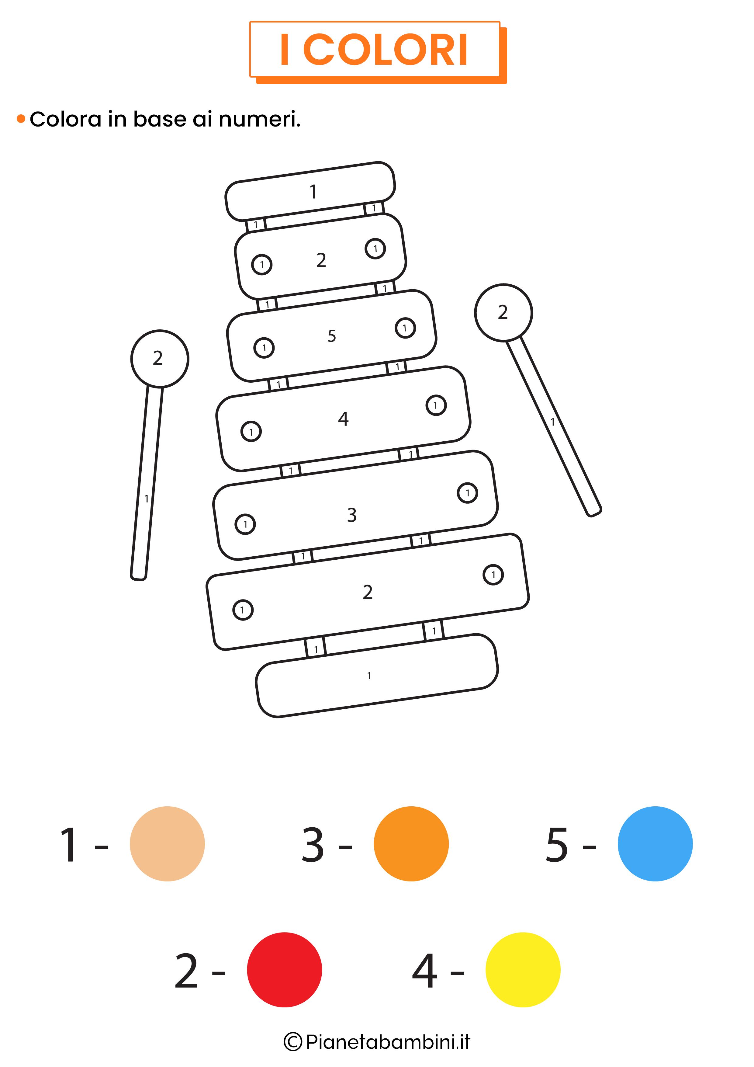 Colora in base ai numeri 3