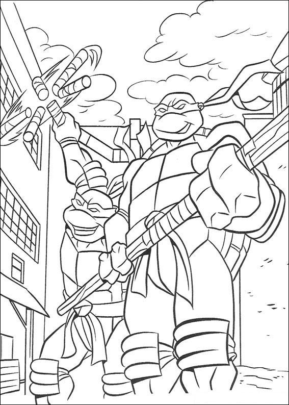 disegni da colorare e stampare gratis tartarughe ninja
