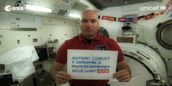 Luca Parmitano sostiene Unicef