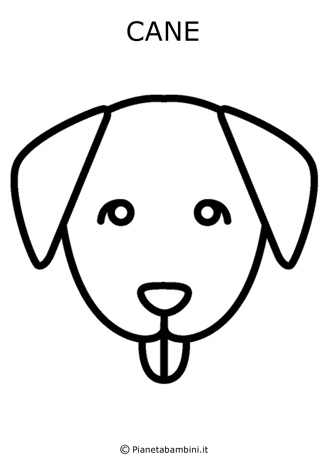 Facce di 81 animali da stampare colorare e ritagliare - Colorazione immagine di un cane ...