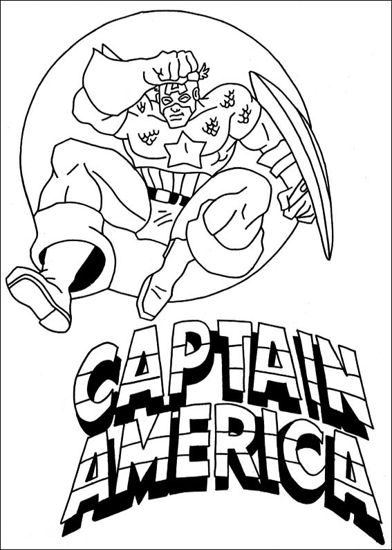 54 Disegni Da Colorare Di Capitan America Pianetabambini It