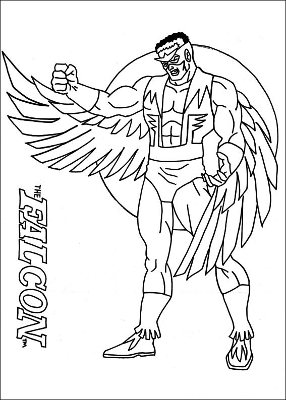 falcon avengers coloring pages - photo#3