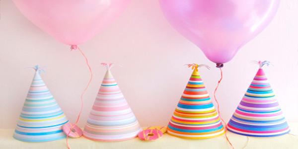 Cappelli di carta fai da te da stampare per feste di - Decorazioni per compleanni fai da te ...
