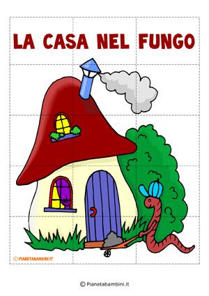 Puzzle della casa nel fungo