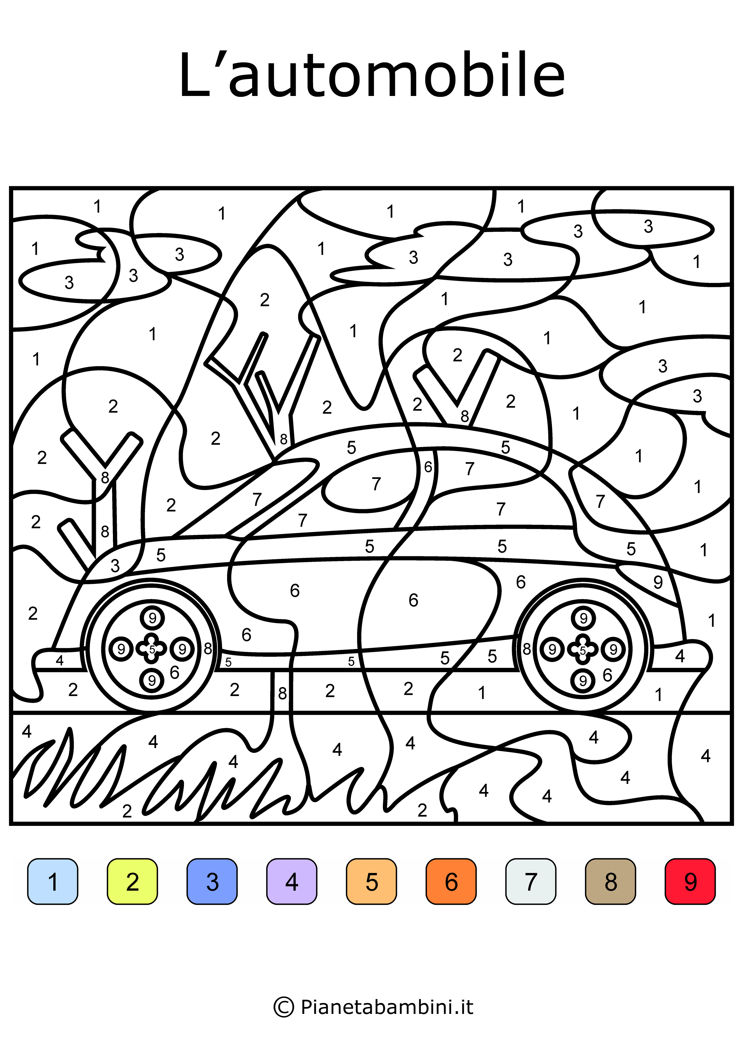 conta e colora da stampare disegni da colorare in base ai On disegni da colorare con i numeri