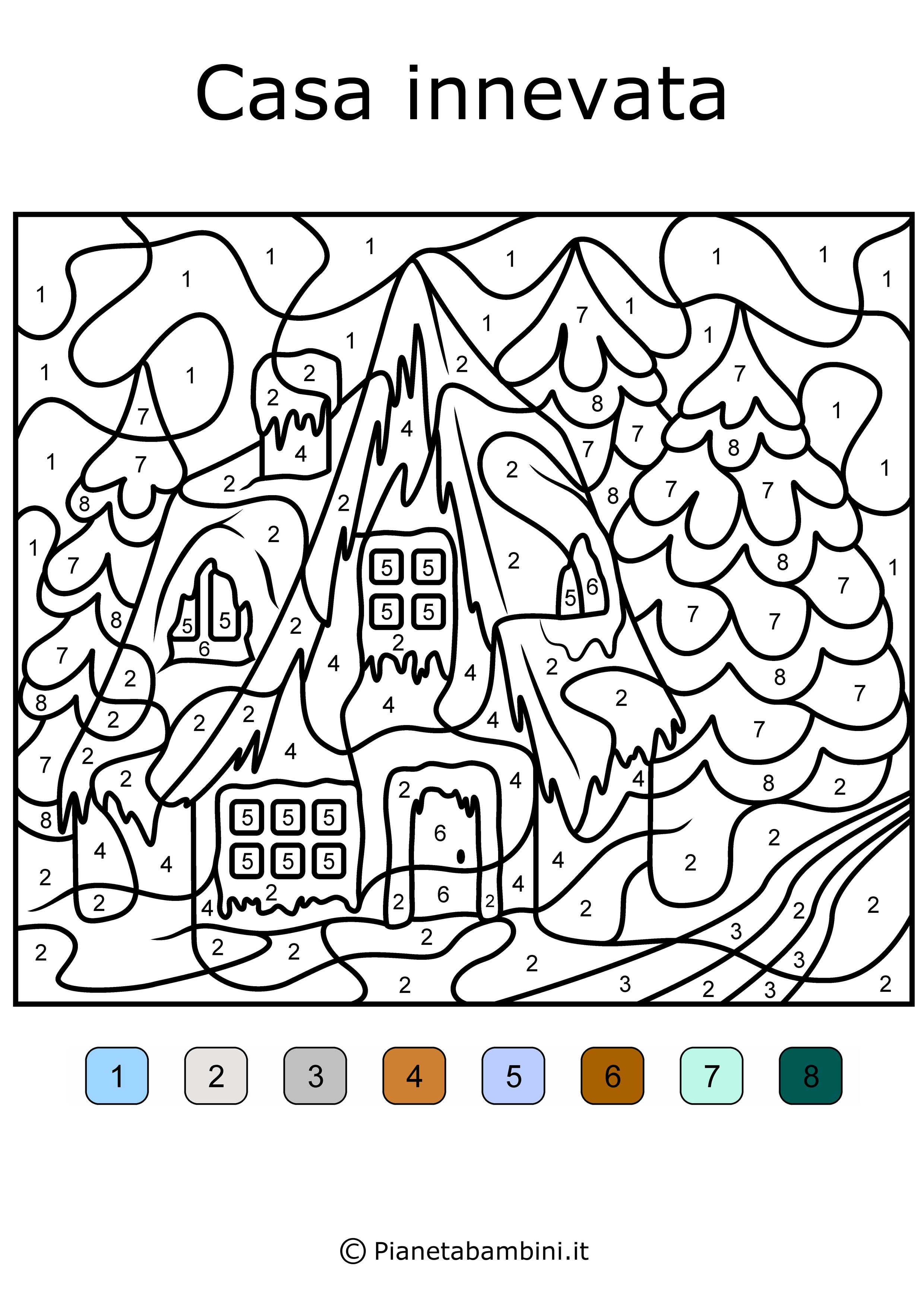 Conta e colora da stampare disegni da colorare in base ai - Disegni per casa ...