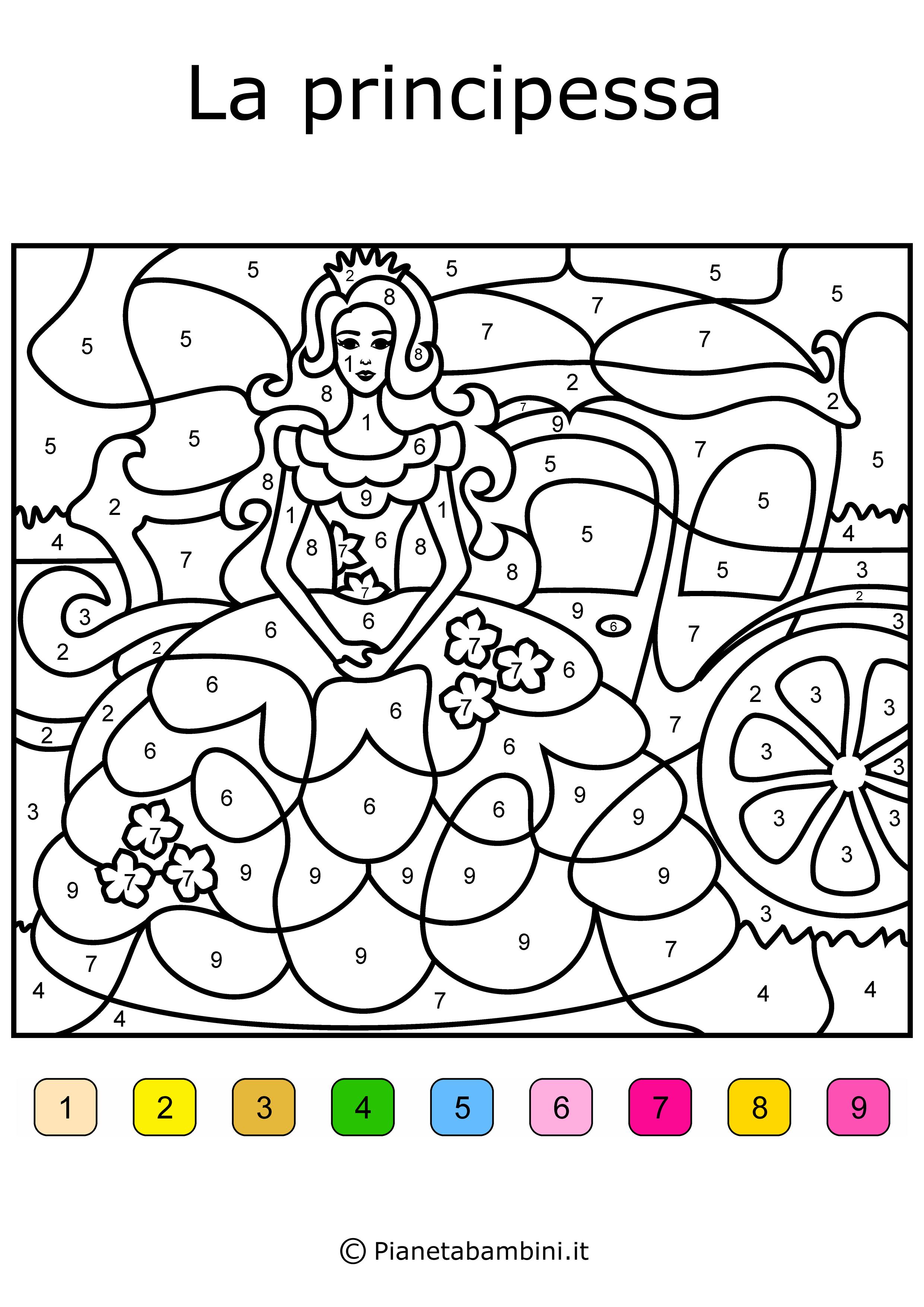Conta-e-Colora-Difficile-Principessa