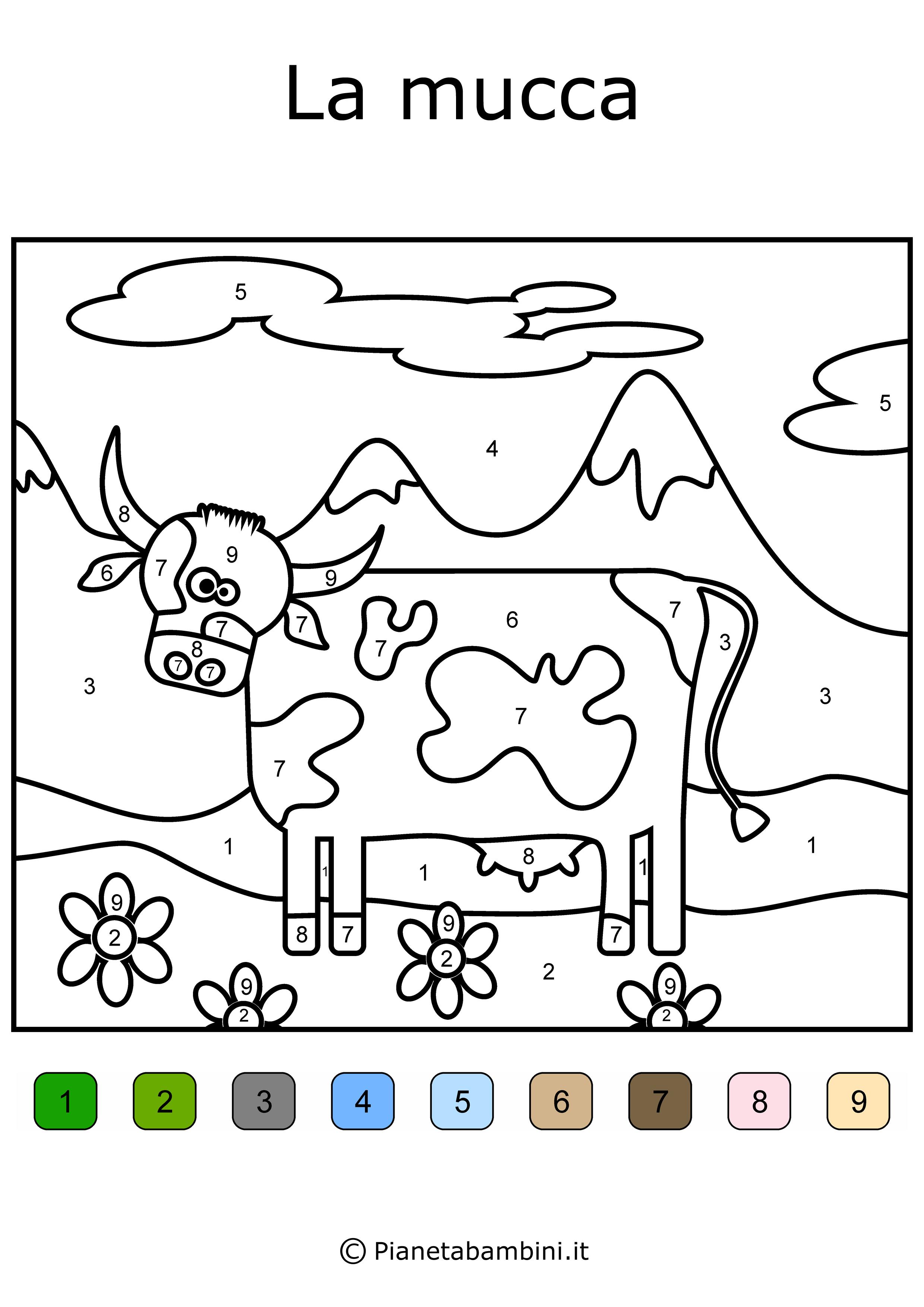 Conta E Colora Da Stampare Disegni Da Colorare In Base Ai Numeri