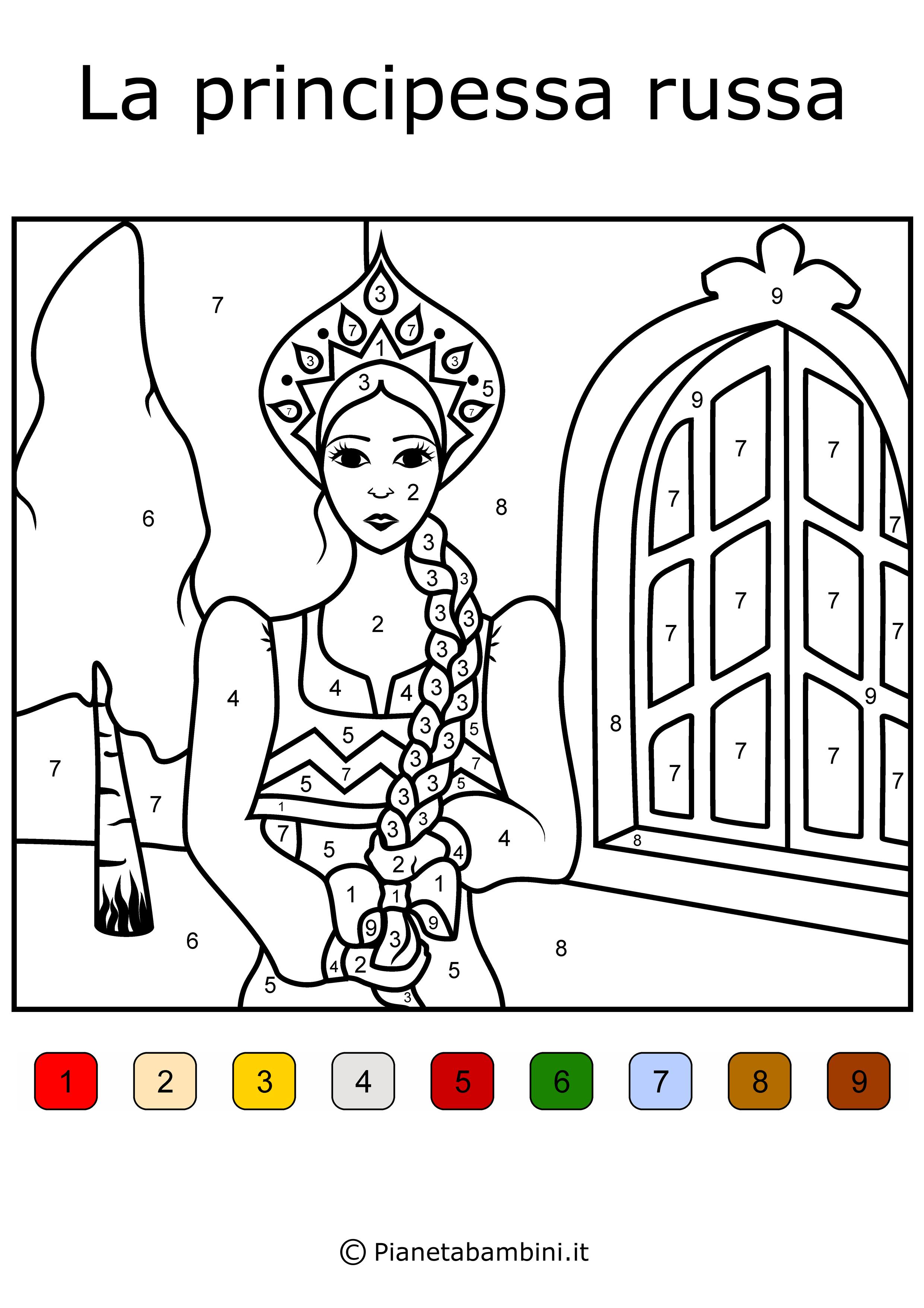 Conta-e-Colora-Semplice-Principessa-Russa
