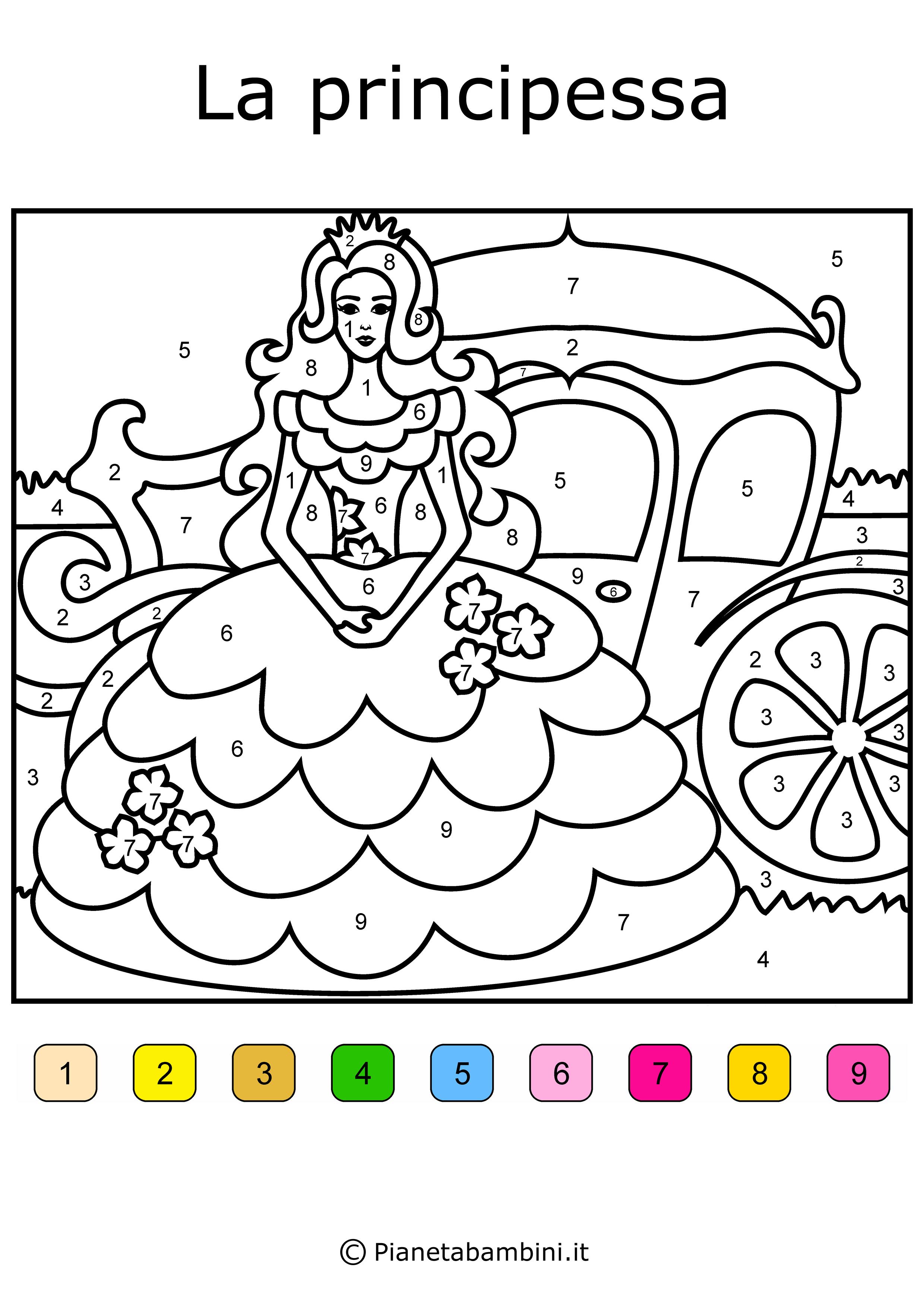 Conta e colora da stampare disegni da colorare in base ai for Immagini api per bambini