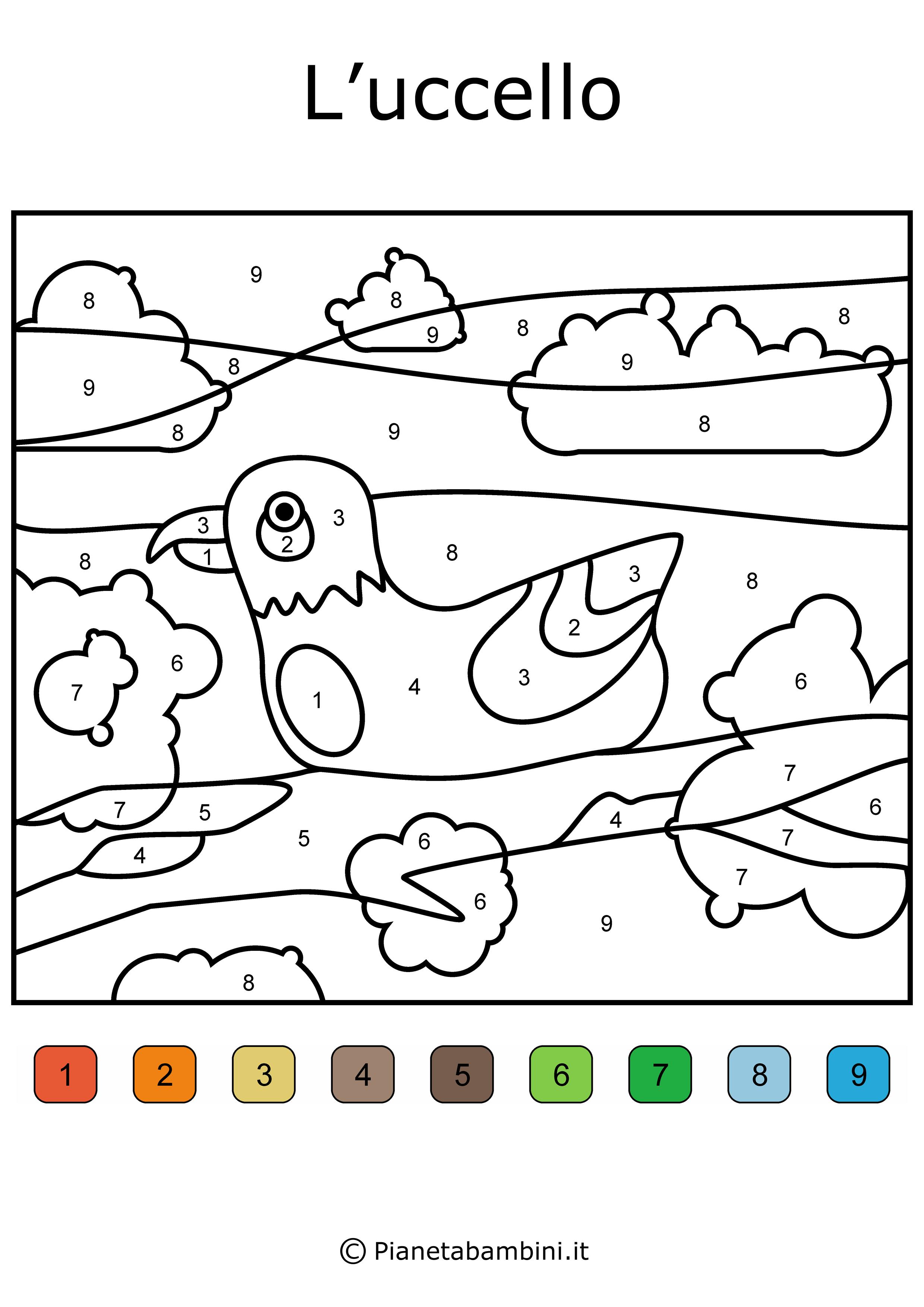 Disegni Da Colorare E Stampare Con I Numeri.Conta E Colora 48 Disegni Da Colorare In Base Ai Numeri Pianetabambini It