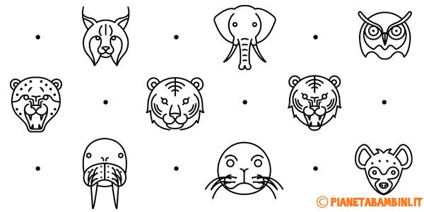 Facce di animali da stampare gratis