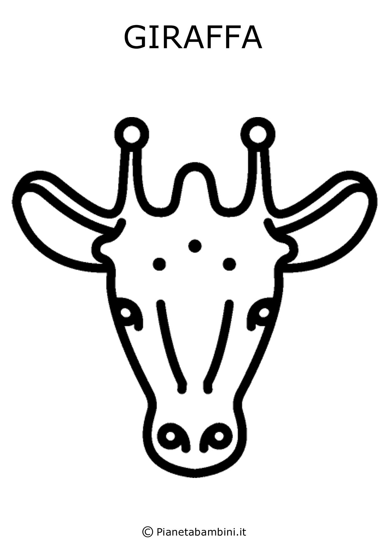 Facce di 81 animali da stampare colorare e ritagliare for Immagini giraffa per bambini
