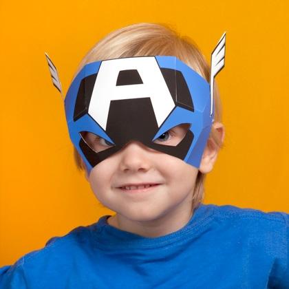 Maschera di Capitan America fai da te
