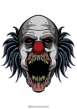 Immagine della maschera da clown