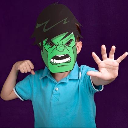 Maschera di Hulk fai da te